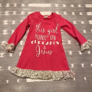 Other - This Girl Runs On Cupcakes & Jesus Boutique Dress